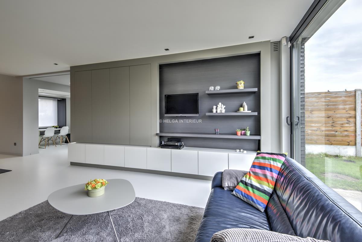 Home office en woonkamer Wommelgem | Helga Interieur Architectuur ...