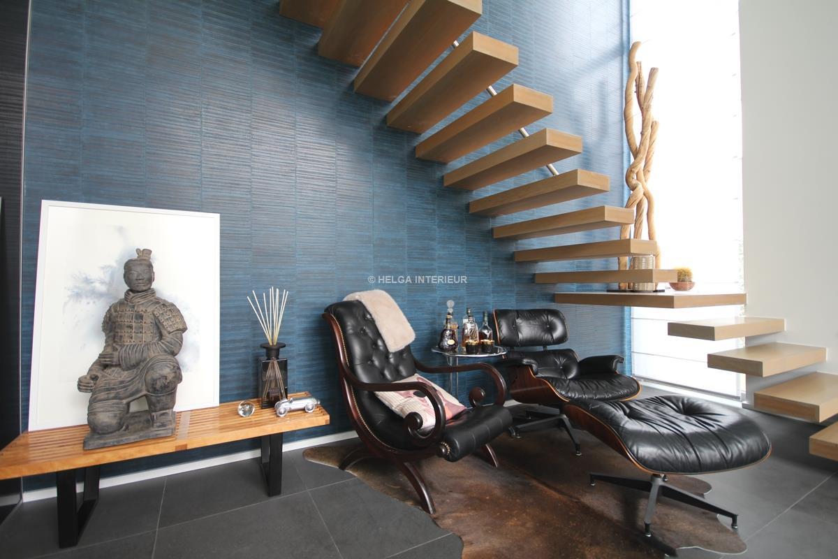 Haard en trap ranst helga interieur architectuur antwerpen